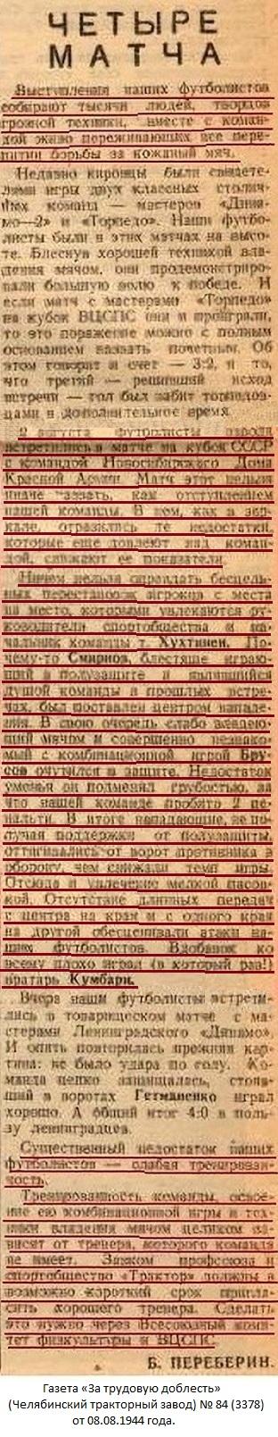Трактор (Челябинск) - ДКА (Новосибирск) 4:6