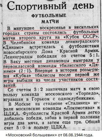 Динамо (Баку) - Динамо (Тбилиси) 2:1