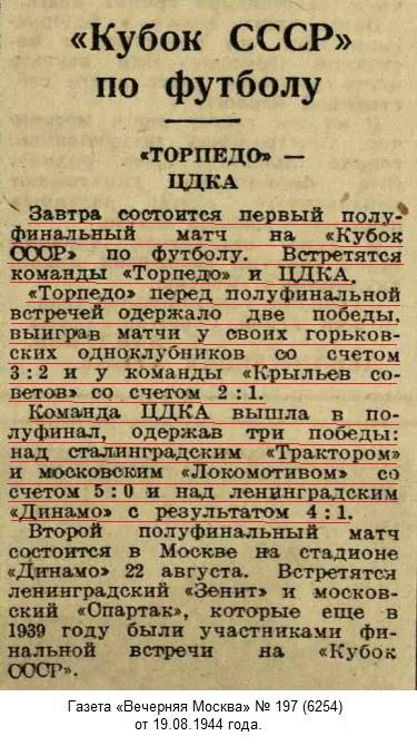 ЦДКА (Москва) - Торпедо (Москва) 3:2