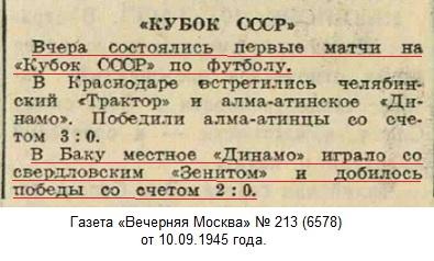 Динамо (Баку) - Зенит (Свердловск) 2:0