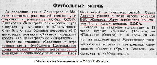 ЦДКА (Москва) - ВВС (Москва) 3:0