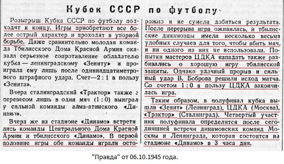 ЦДКА (Москва) - Динамо (Тбилиси) 1:0