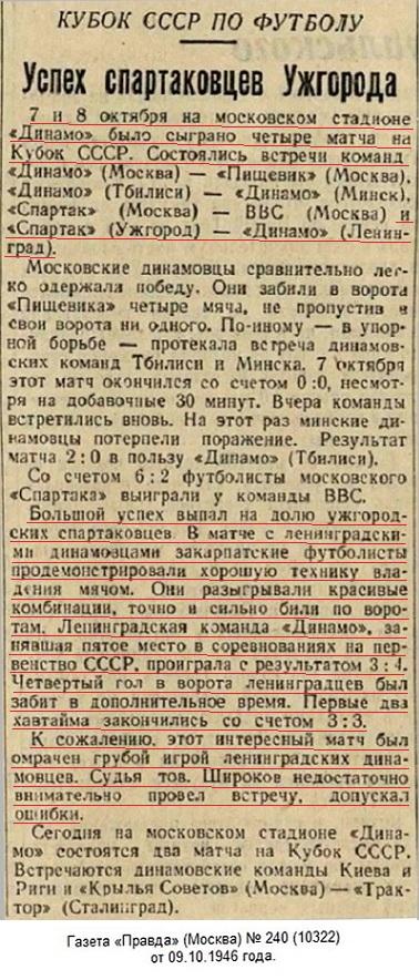Динамо (Ленинград) - Спартак (Ужгород) 3:4 д.в.