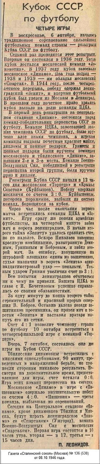 Торпедо (Москва) - Крылья Советов (Куйбышев) 3:0