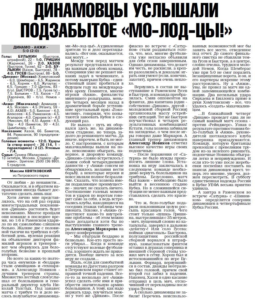 Динамо (Москва) - Анжи (Махачкала) 5:0. Нажмите, чтобы посмотреть истинный размер рисунка