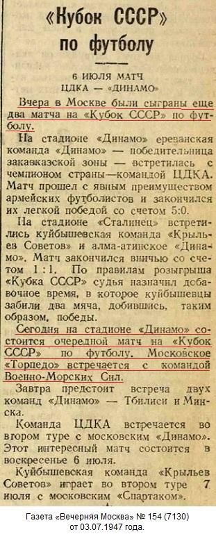 Торпедо (Москва) - ВМС (Москва) 6:0