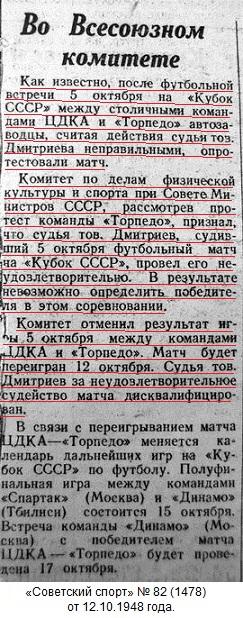 Торпедо (Москва) - ЦДКА (Москва) -:- 2:4 аннул.