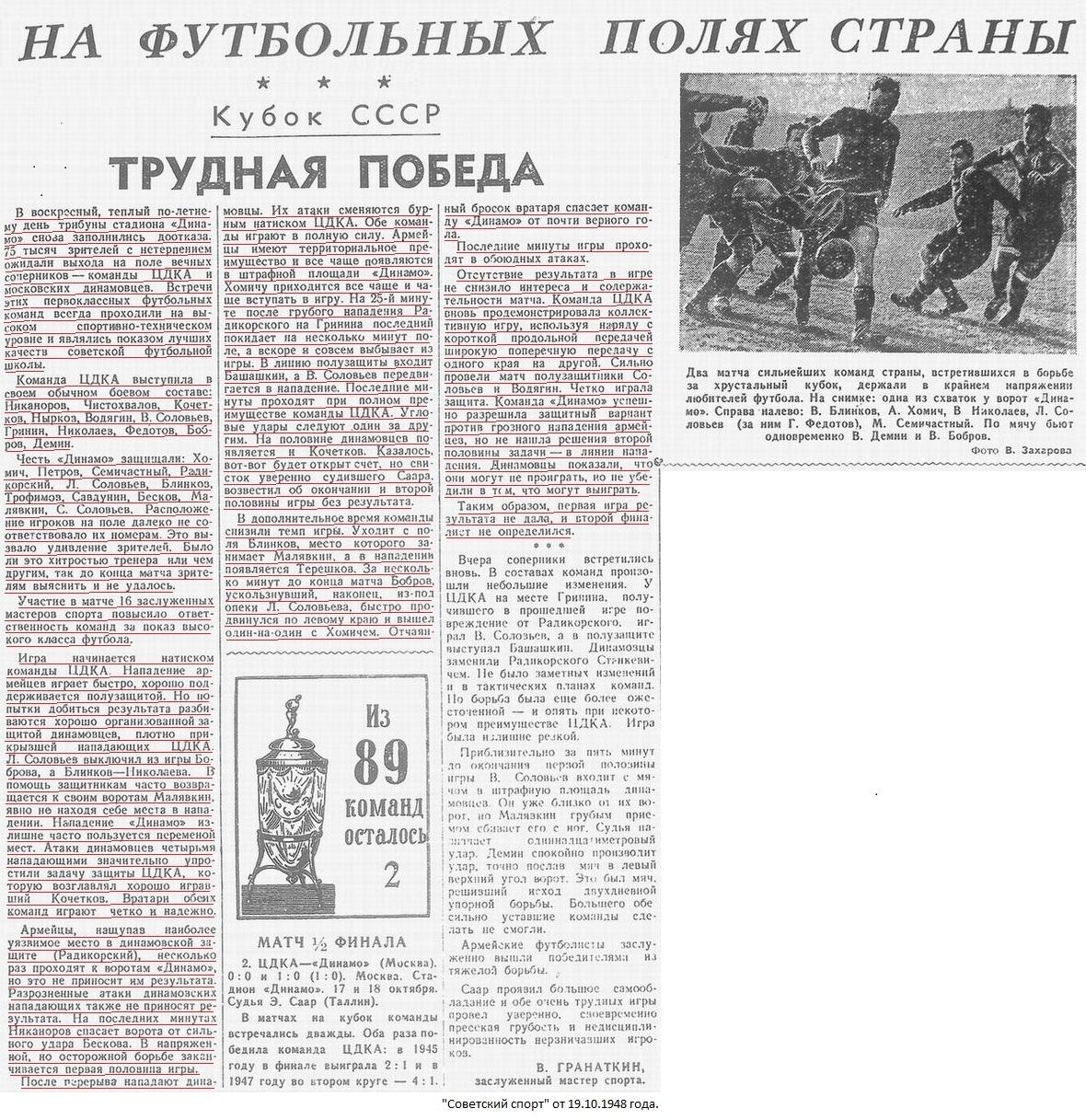 ЦДКА (Москва) - Динамо (Москва) 0:0 д.в.. Нажмите, чтобы посмотреть истинный размер рисунка