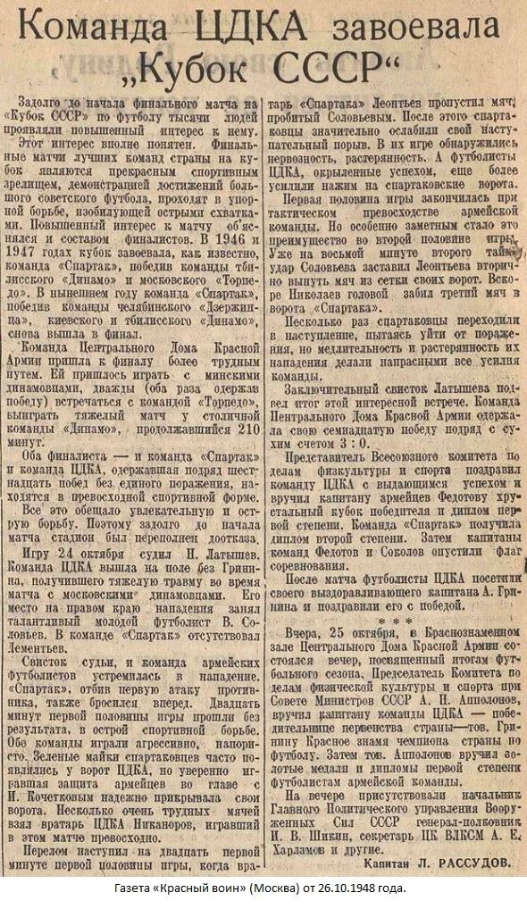 Спартак (Москва) - ЦДКА (Москва) 0:3