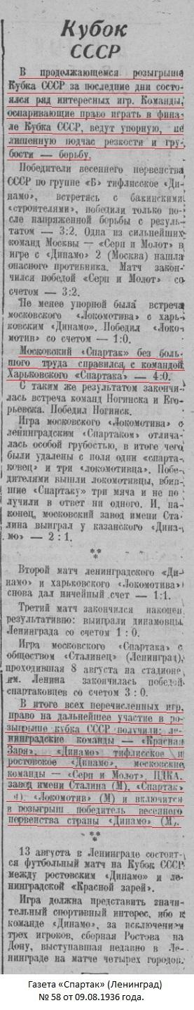 Спартак (Москва) - Спартак (Харьков) 4:0