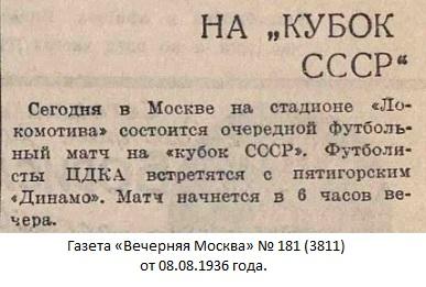 ЦДКА (Москва) - Динамо (Пятигорск) 1:2