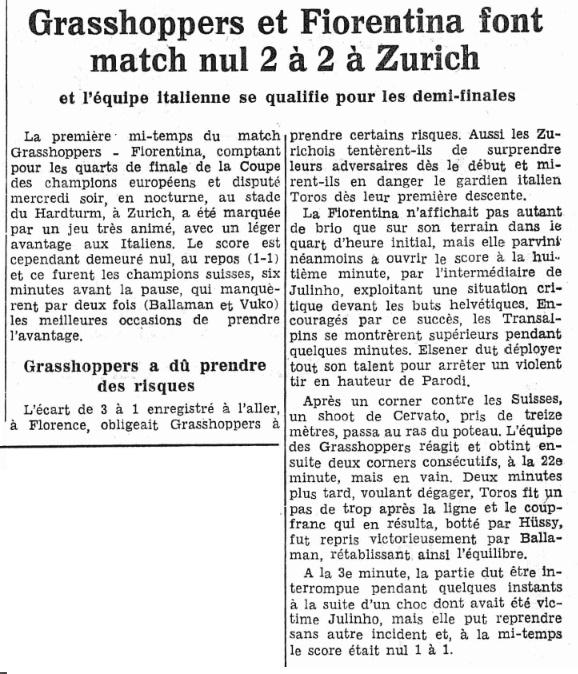 Грассхоппер (Швейцария) - Фиорентина (Италия) 2:2