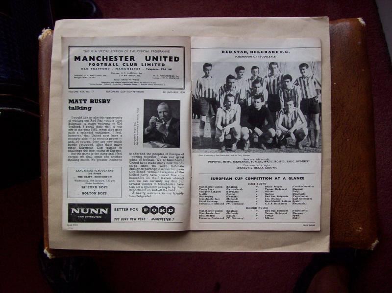 Манчестер Юнайтед (Англия) - Црвена Звезда (Югославия) 2:1. Нажмите, чтобы посмотреть истинный размер рисунка