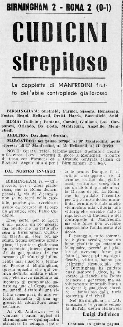 Бирмингем Сити (Англия) - Рома (Италия) 2:2