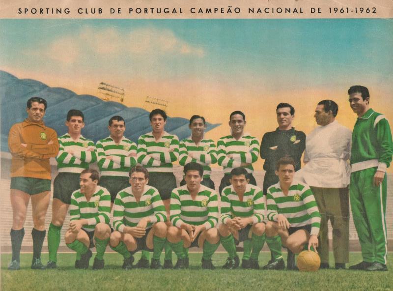 Спортинг Лиссабон (Португалия) - Партизан (Югославия) 1:1. Нажмите, чтобы посмотреть истинный размер рисунка