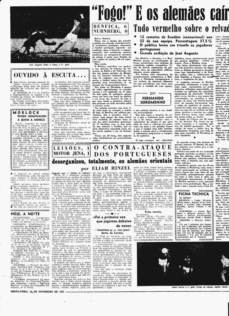 Бенфика (Португалия) - Нюрнберг (Германия) 6:0. Нажмите, чтобы посмотреть истинный размер рисунка