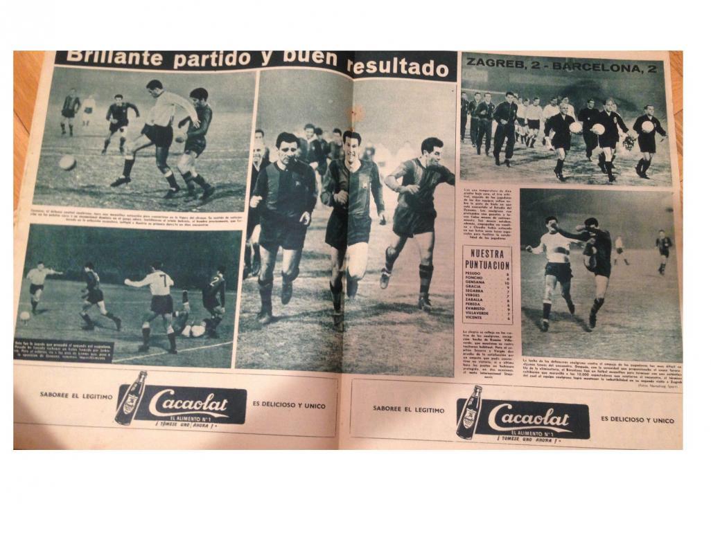 Динамо Загреб (Югославия) - Барселона (Испания) 2:2. Нажмите, чтобы посмотреть истинный размер рисунка
