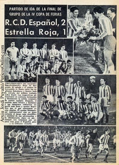 Эспаньол (Испания) - Црвена Звезда (Югославия) 2:1