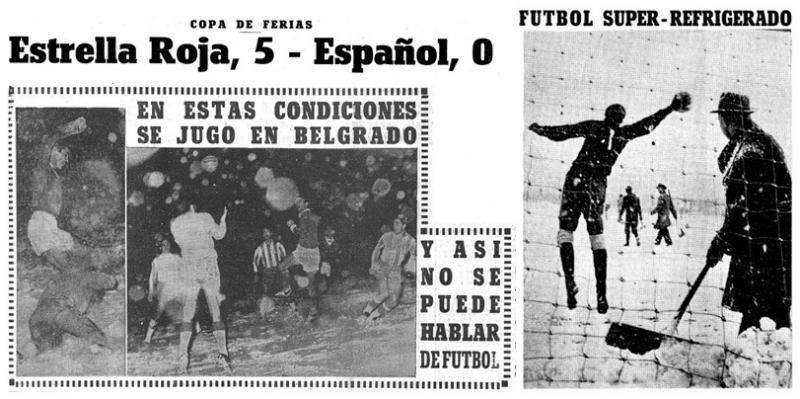 Црвена Звезда (Югославия) - Эспаньол (Испания) 5:0. Нажмите, чтобы посмотреть истинный размер рисунка
