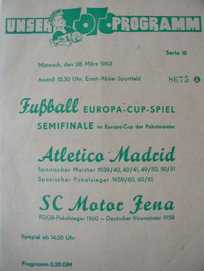 Карл Цейсс Йена (ГДР) - Атлетико (Испания) 0:1