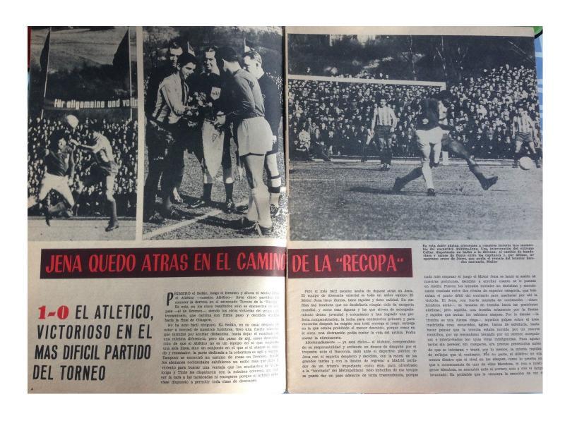 Карл Цейсс Йена (ГДР) - Атлетико (Испания) 0:1. Нажмите, чтобы посмотреть истинный размер рисунка