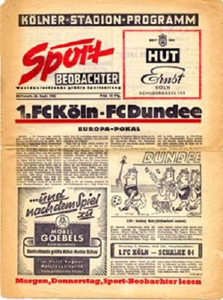 Кёльн (Германия) - Данди Юнайтед (Шотландия) 4:0