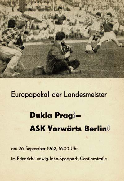 Форвертс Франкфурт-на-Одере (ГДР) - Дукла Прага (Чехословакия) 0:3