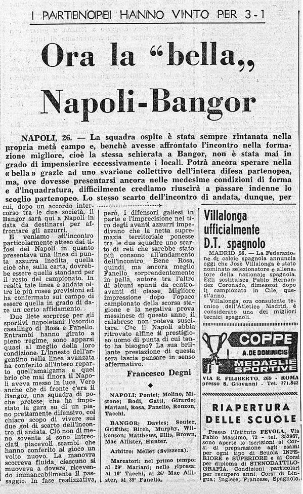 Наполи (Италия) - Бангор Сити (Уэльс) 3:1