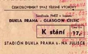 Дукла Прага (Чехословакия) - Селтик (Шотландия) 0:0