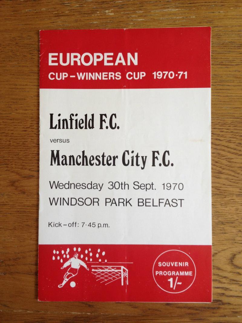 Линфилд (Северная Ирландия) - Манчестер Сити (Англия) 2:1. Нажмите, чтобы посмотреть истинный размер рисунка
