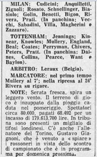 Милан (Италия) - Тоттенхэм (Англия) 1:1