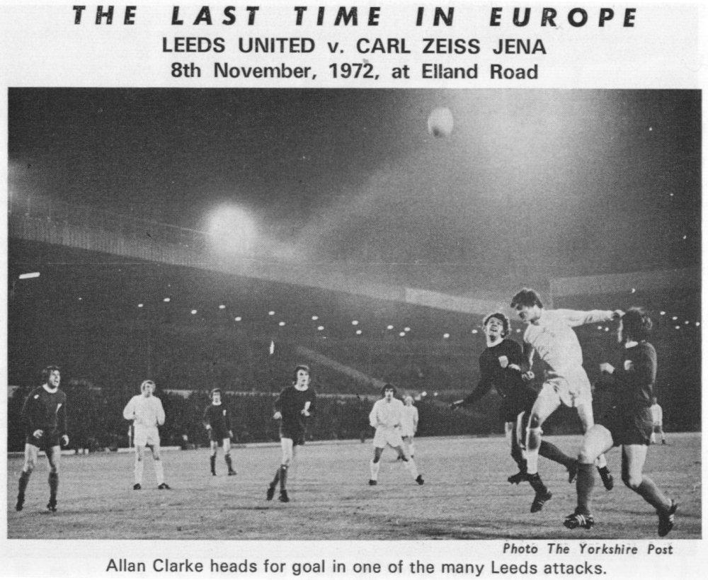 Лидс Юнайтед (Англия) - Карл Цейсс Йена (ГДР) 2:0