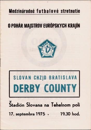 Слован (Чехословакия) - Дерби Каунти (Англия) 1:0