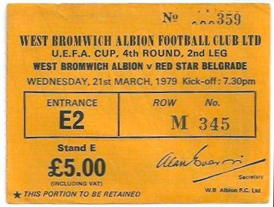 Вест Бромвич Альбион (Англия) - Црвена Звезда (Югославия) 1:1