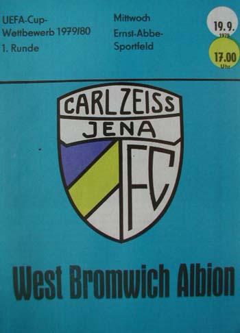 Карл Цейсс Йена (ГДР) - Вест Бромвич Альбион (Англия) 2:0