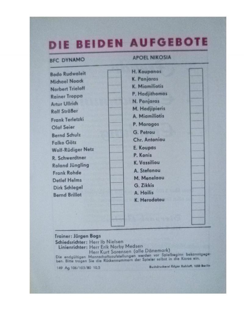 Динамо Берлин (ГДР) - АПОЭЛ (Кипр) 3:0. Нажмите, чтобы посмотреть истинный размер рисунка
