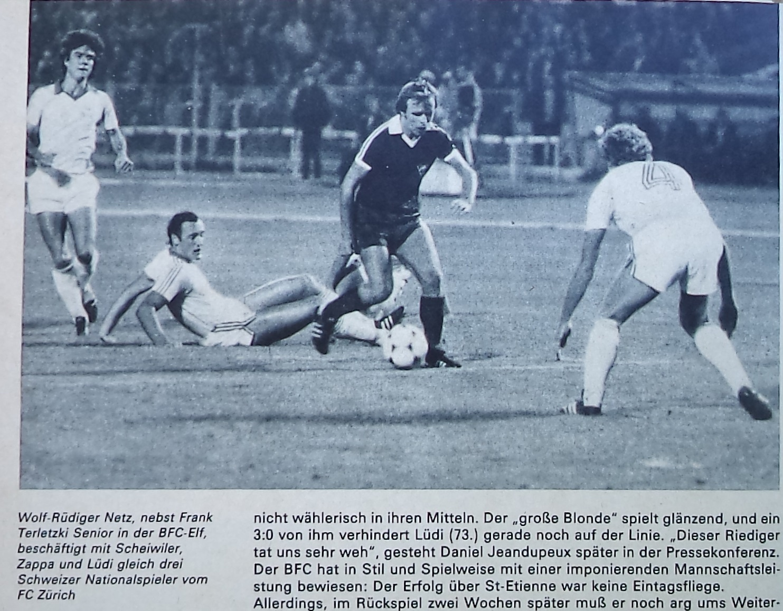 Динамо Берлин (ГДР) - Цюрих (Швейцария) 2:0