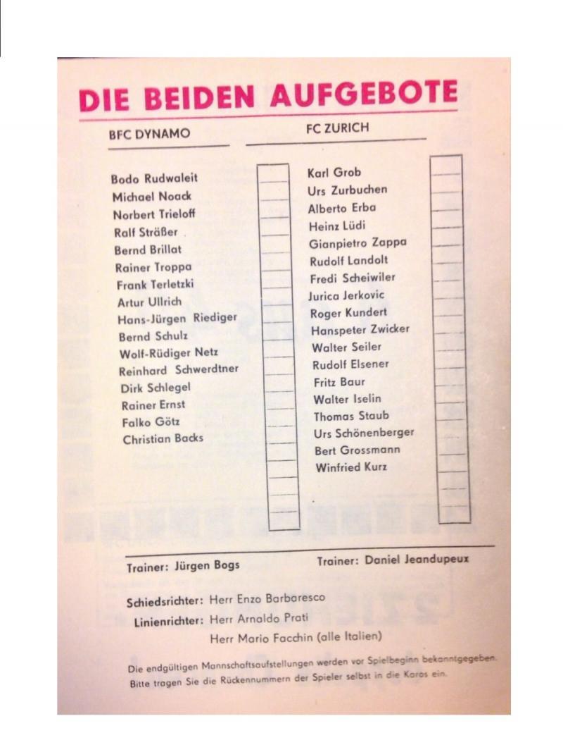 Динамо Берлин (ГДР) - Цюрих (Швейцария) 2:0. Нажмите, чтобы посмотреть истинный размер рисунка
