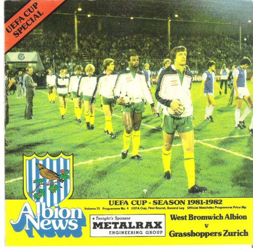 Вест Бромвич Альбион (Англия) - Грассхоппер (Швейцария) 1:3