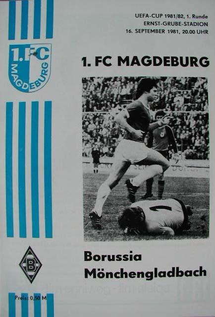Магдебург (ГДР) - Боруссия М (Германия) 3:1
