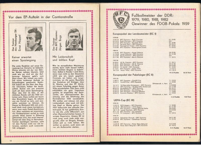 Динамо Берлин (ГДР) - Гамбург (Германия) 1:1. Нажмите, чтобы посмотреть истинный размер рисунка