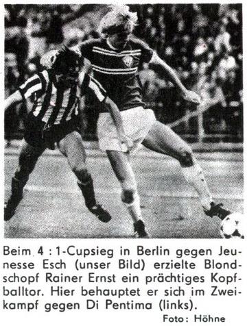 Динамо Берлин (ГДР) - Женнес Эш (Люксембург) 4:1