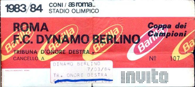 Рома (Италия) - Динамо Берлин (ГДР) 3:0