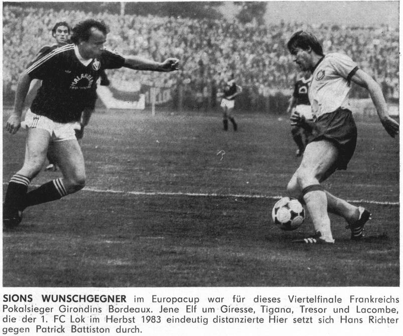 Локомотив Лейпциг (ГДР) - Бордо (Франция) 4:0
