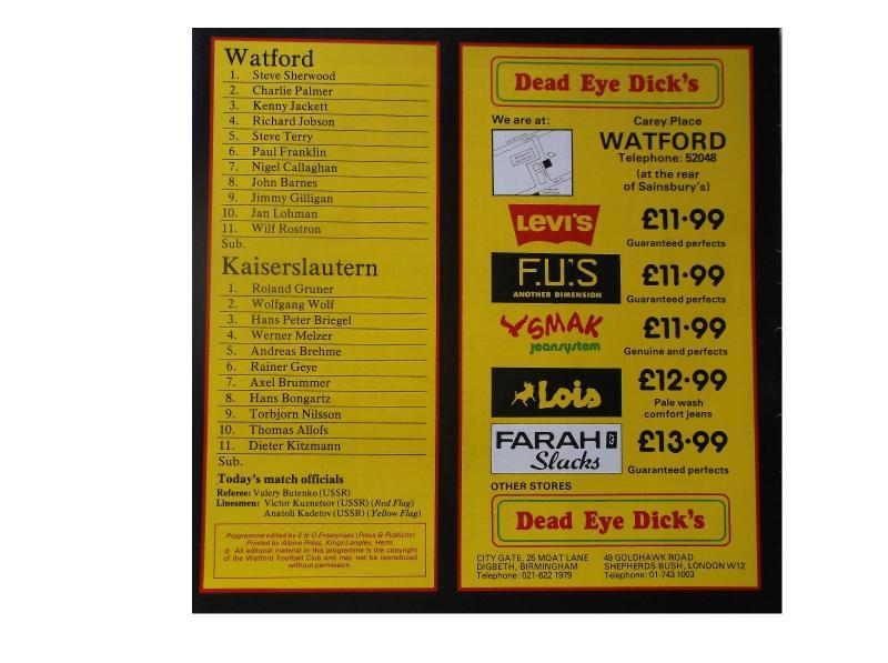 Уотфорд (Англия) - Кайзерслаутерн (Германия) 3:0. Нажмите, чтобы посмотреть истинный размер рисунка