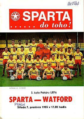 Спарта (Чехословакия) - Уотфорд (Англия) 4:0