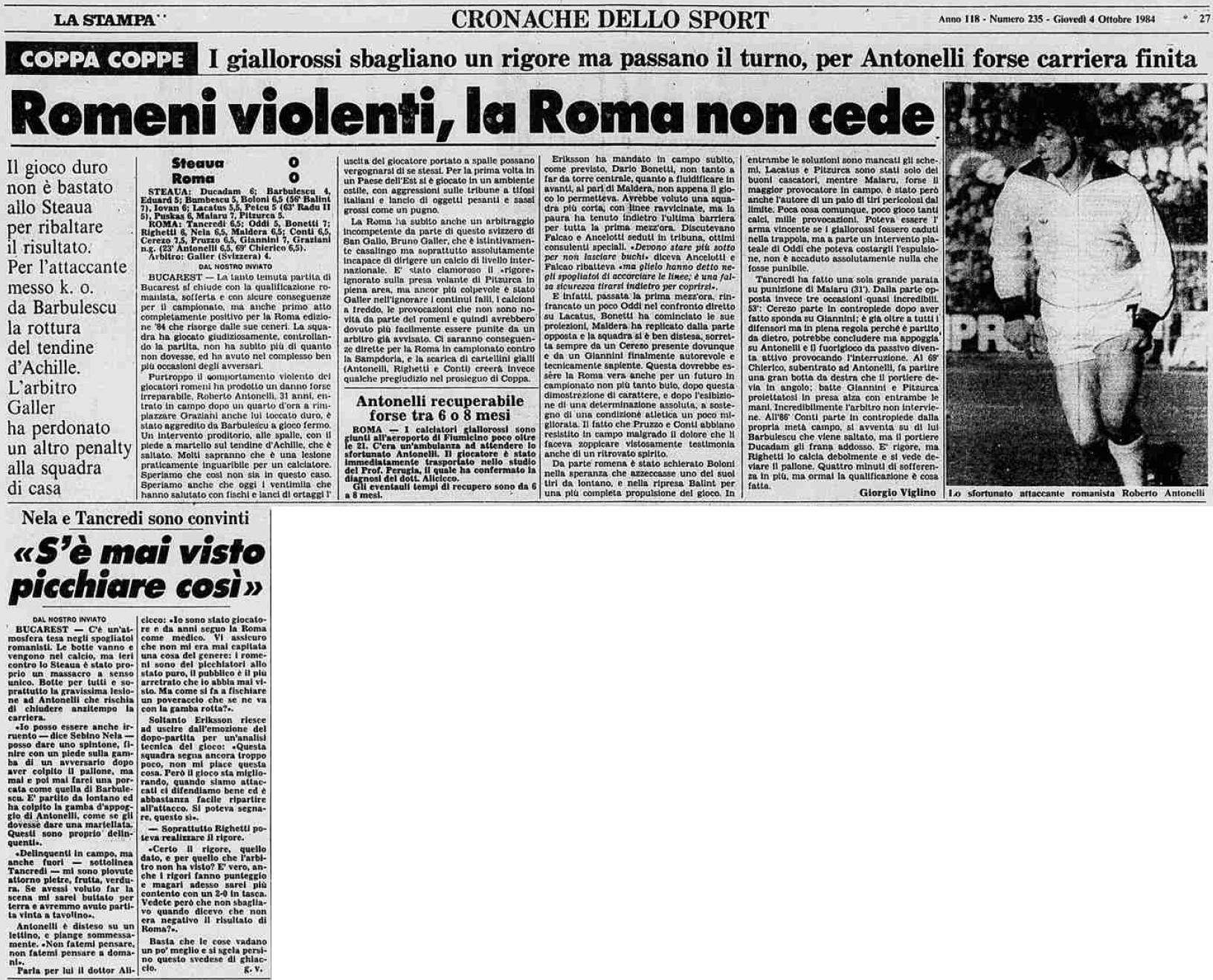 Стяуа (Румыния) - Рома (Италия) 0:0