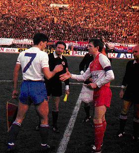 Хайдук (Югославия) - Варегем (Бельгия) 1:0