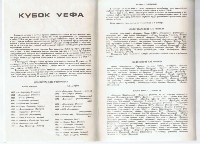 Динамо Мн (СССР) - Дьор (Венгрия) 2:4. Нажмите, чтобы посмотреть истинный размер рисунка