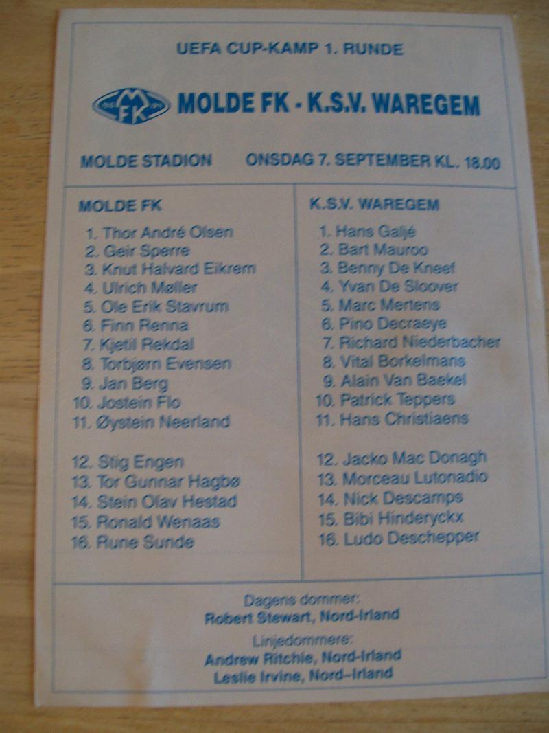 Мольде (Норвегия) - Варегем (Бельгия) 0:0. Нажмите, чтобы посмотреть истинный размер рисунка